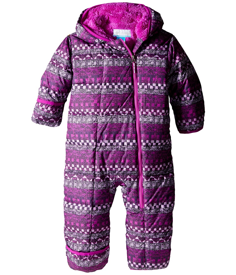 Columbia Kids - Frosty Freeze Bunting (Infant) (Bright Plum Fairisle/Bright Plum) Kid's Jumpsuit & Rompers One Piece