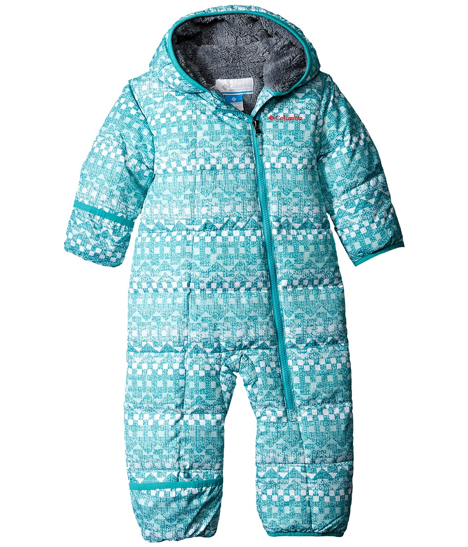 Columbia Kids - Frosty Freeze Bunting (Infant) (Miami Fairisle/Grey Ash) Kid's Jumpsuit & Rompers One Piece