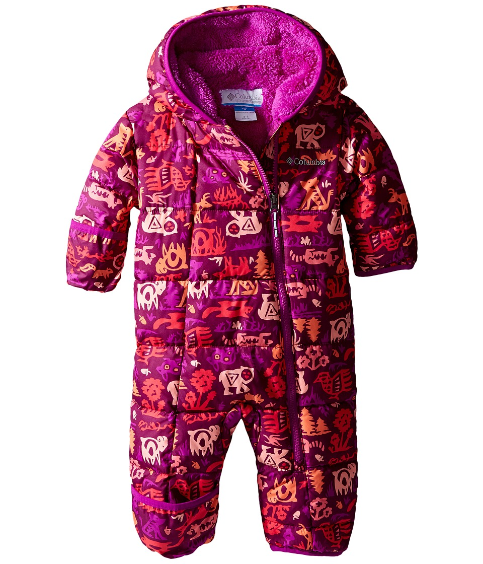 Columbia Kids - Frosty Freeze Bunting (Infant) (Bright Plum Critters/Bright Plum) Kid's Jumpsuit & Rompers One Piece