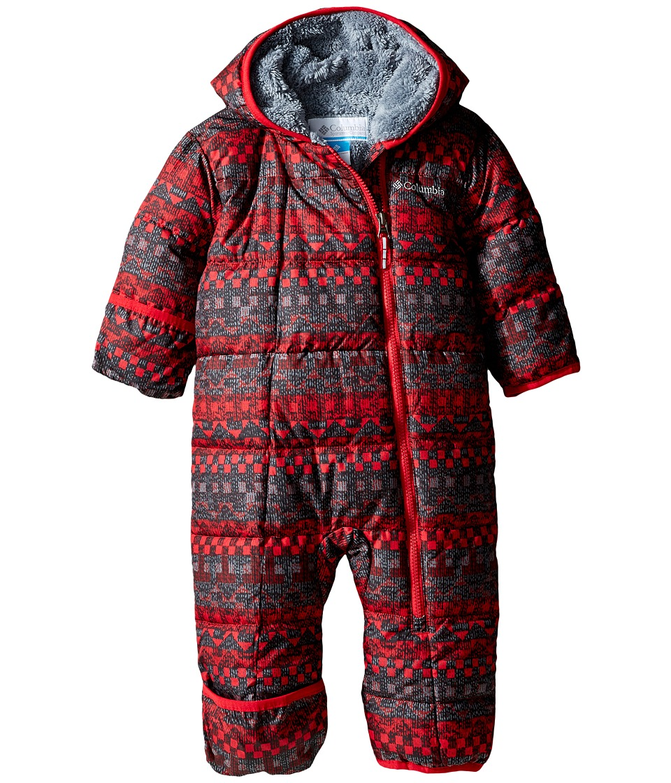 Columbia Kids - Frosty Freeze Bunting (Infant) (Mountain Red Fairisle/Grey Ash) Kid's Jumpsuit & Rompers One Piece