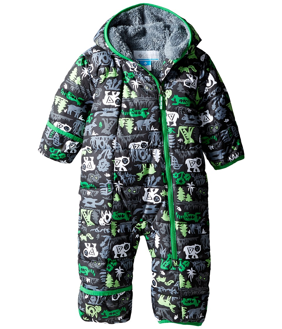 Columbia Kids - Frosty Freeze Bunting (Infant) (Green Mamba Critters/Grey Ash) Kid's Jumpsuit & Rompers One Piece