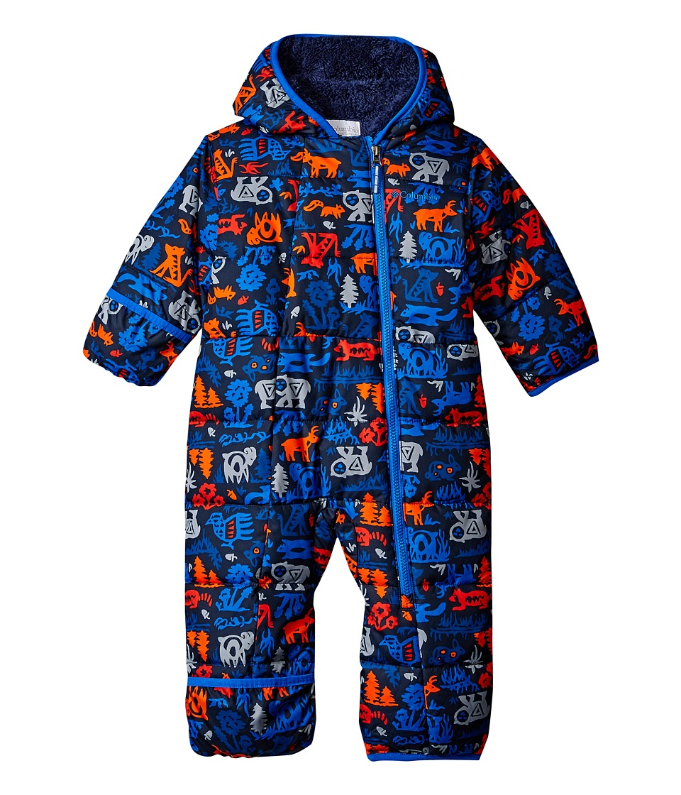Columbia Kids - Frosty Freeze Bunting (Infant) (Marine Blue Critters/Collegiate Navy) Kid's Jumpsuit & Rompers One Piece