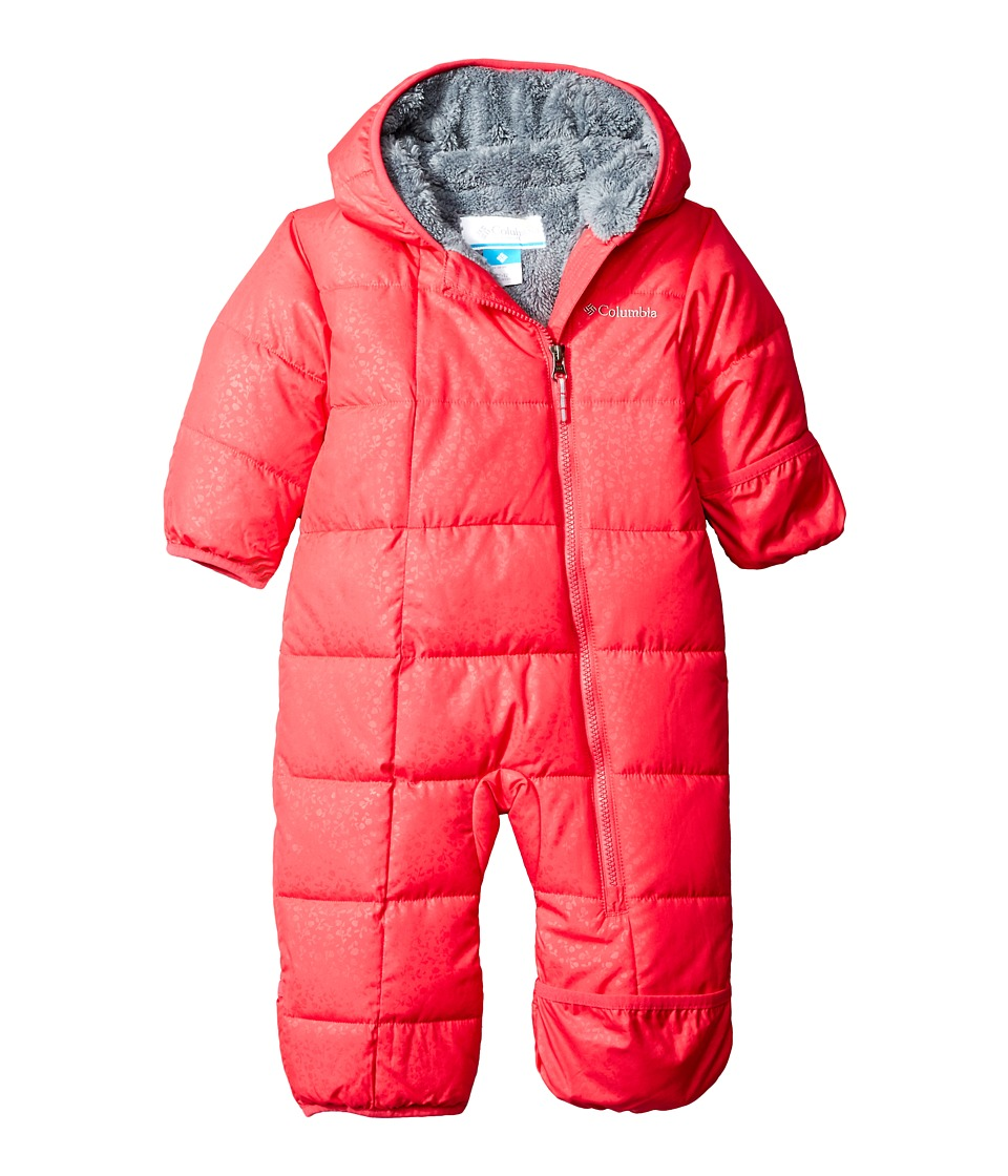 Columbia Kids - Frosty Freeze Bunting (Infant) (Punch Pink Floral Emboss/Grey Ash) Kid's Jumpsuit & Rompers One Piece