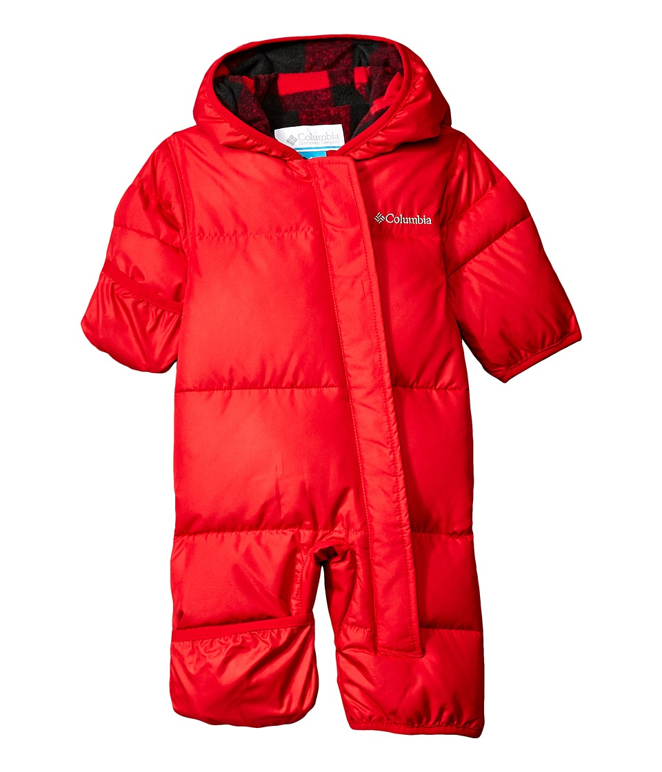 Columbia Kids - Snuggly Bunny Bunting (Infant) (Mountain Red/Mountain Red Plaid) Kid's Jumpsuit & Rompers One Piece