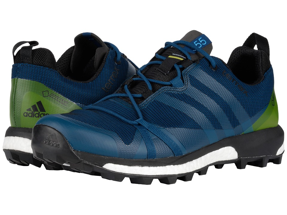 adidas Outdoor - Terrex Agravic GTX (Tech Steel/Craft Blue/Unity Lime) Men's Shoes