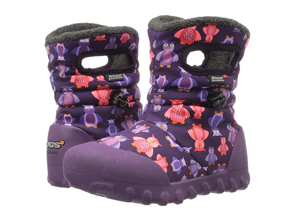 Bogs Kids - B-Moc Puff Owls (Toddler/Little Kid) (Purple Multi) Girls Shoes