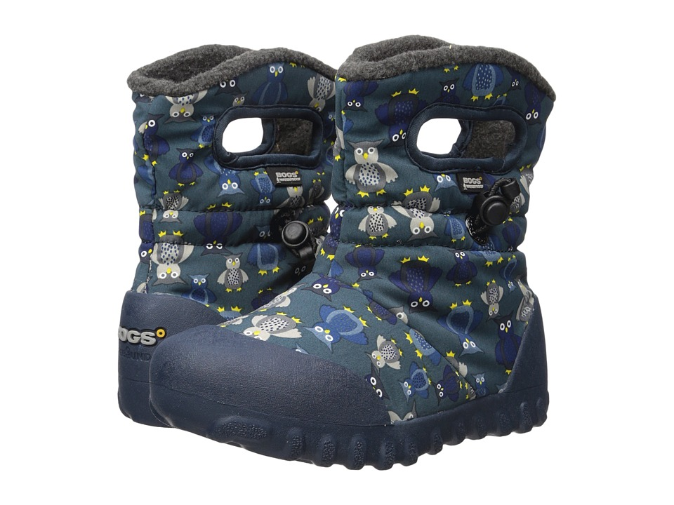Bogs Kids - B-Moc Puff Owls (Toddler/Little Kid) (Navy Multi) Boys Shoes