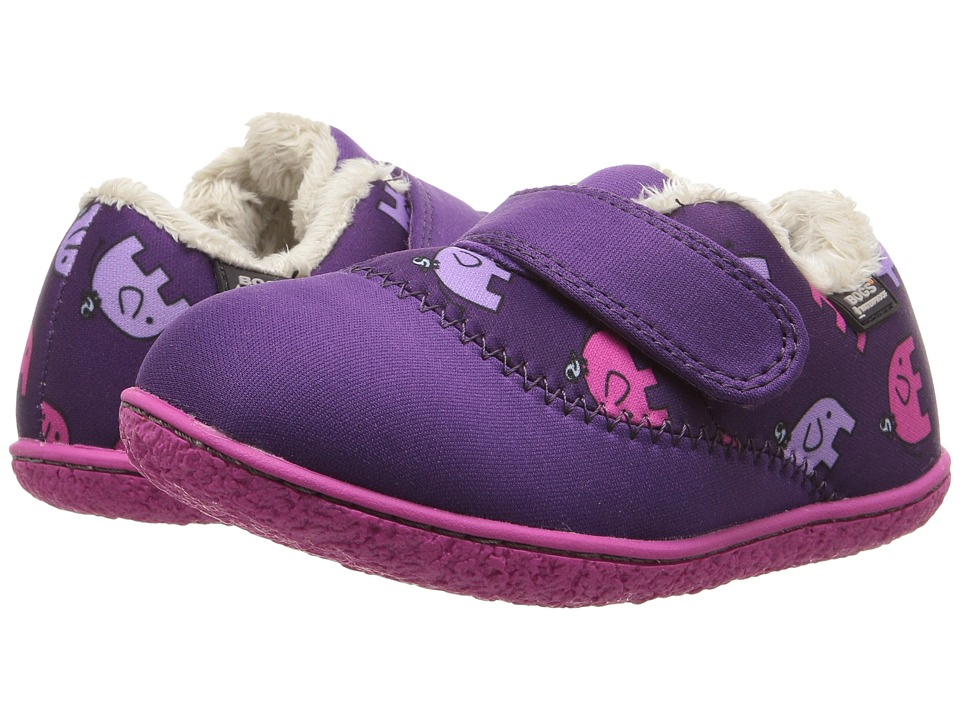 Bogs Kids - Baby Milo Elephant (Toddler) (Purple Multi) Girls Shoes