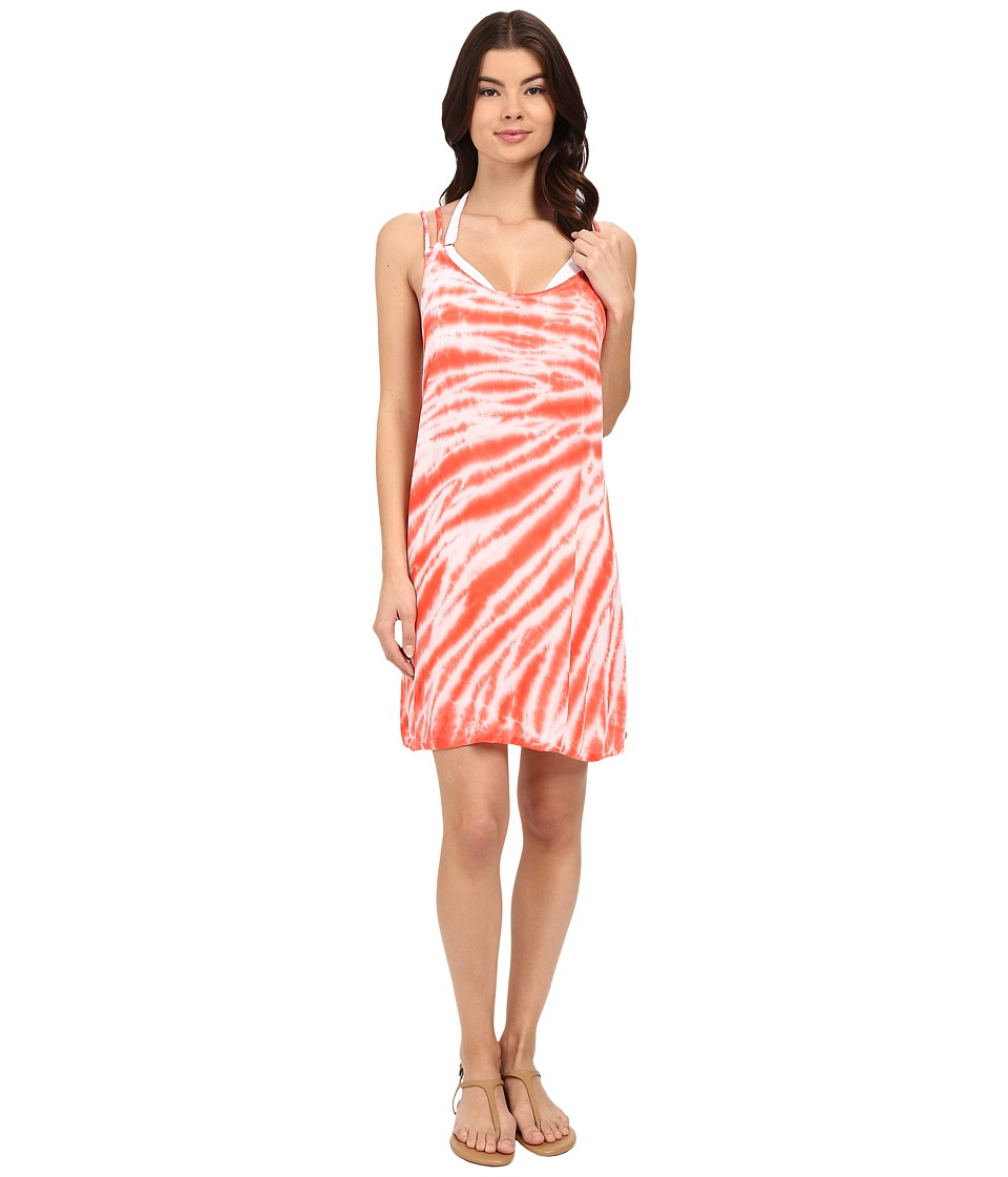 Lucky Brand - Fireworks Dress Cover-Up (Tropical Punch) Women's Swimwear