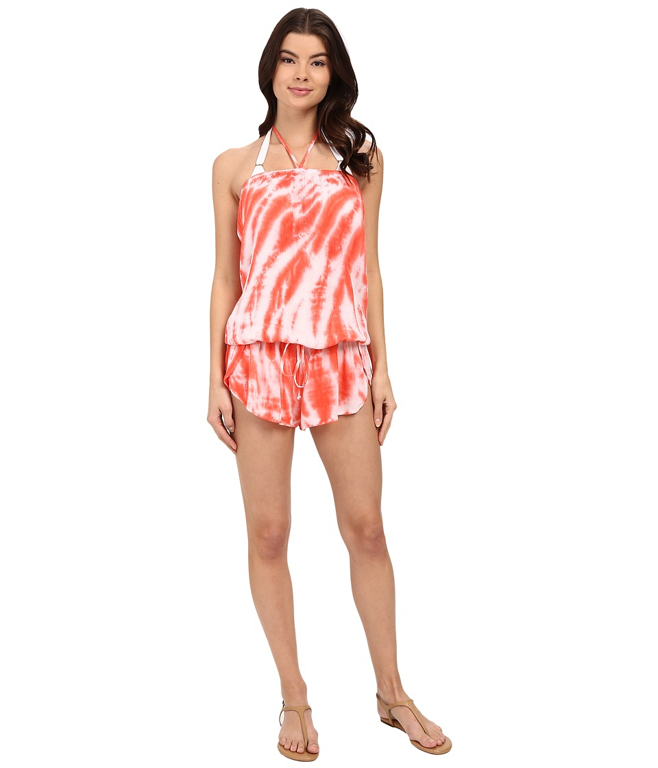Lucky Brand - Fireworks Romper Cover-Up (Tropical Punch) Women's Swimsuits One Piece