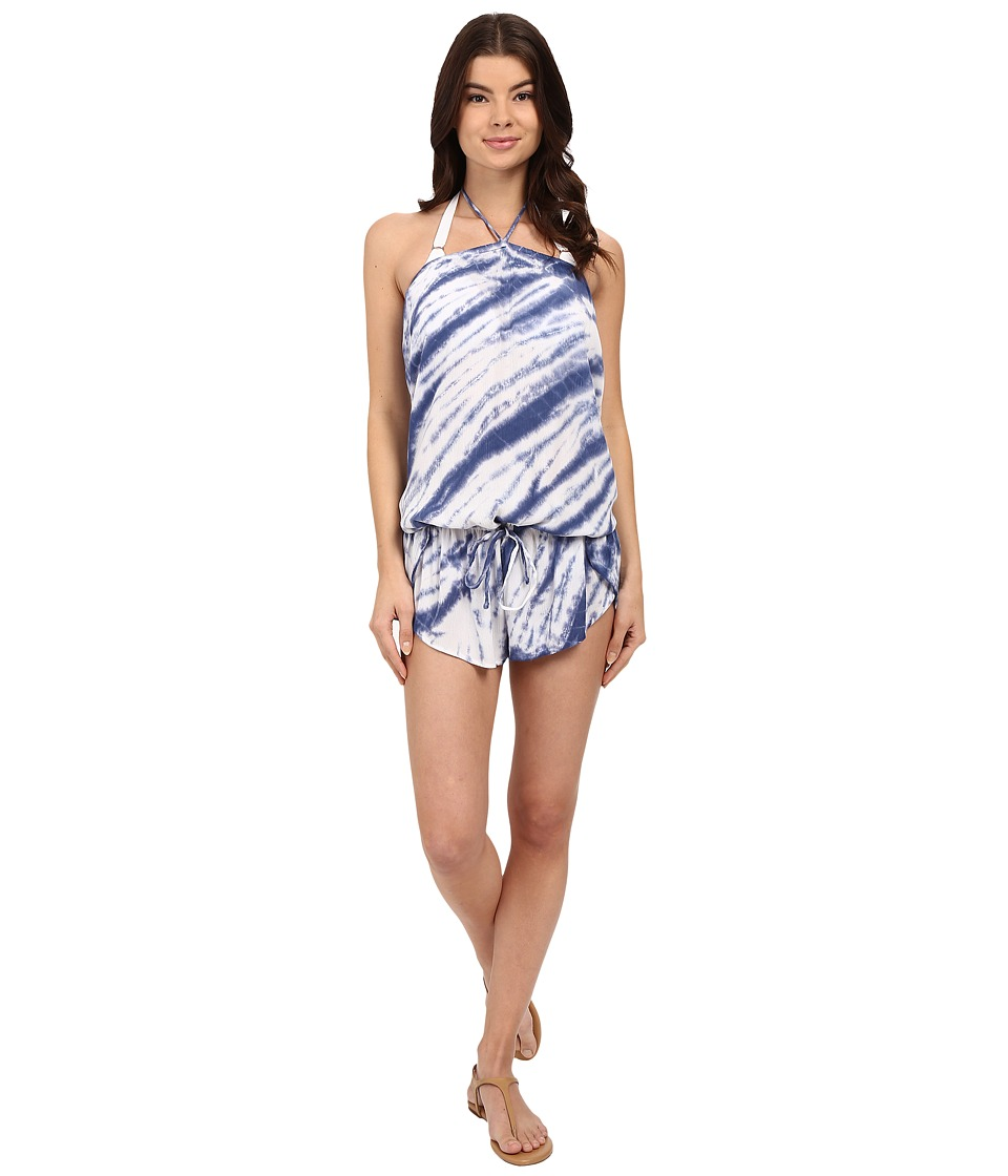 Lucky Brand - Fireworks Romper Cover-Up (Vintage Blue) Women's Swimsuits One Piece
