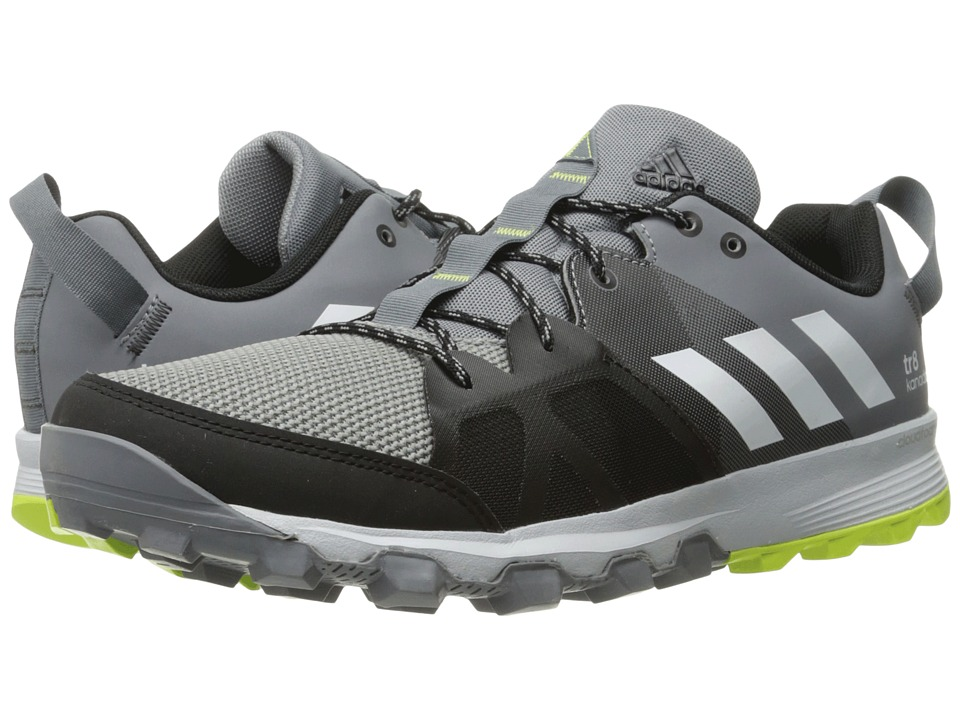 adidas Outdoor - Kanadia 8 TR (Grey/White/Solar Yellow) Men's Running Shoes