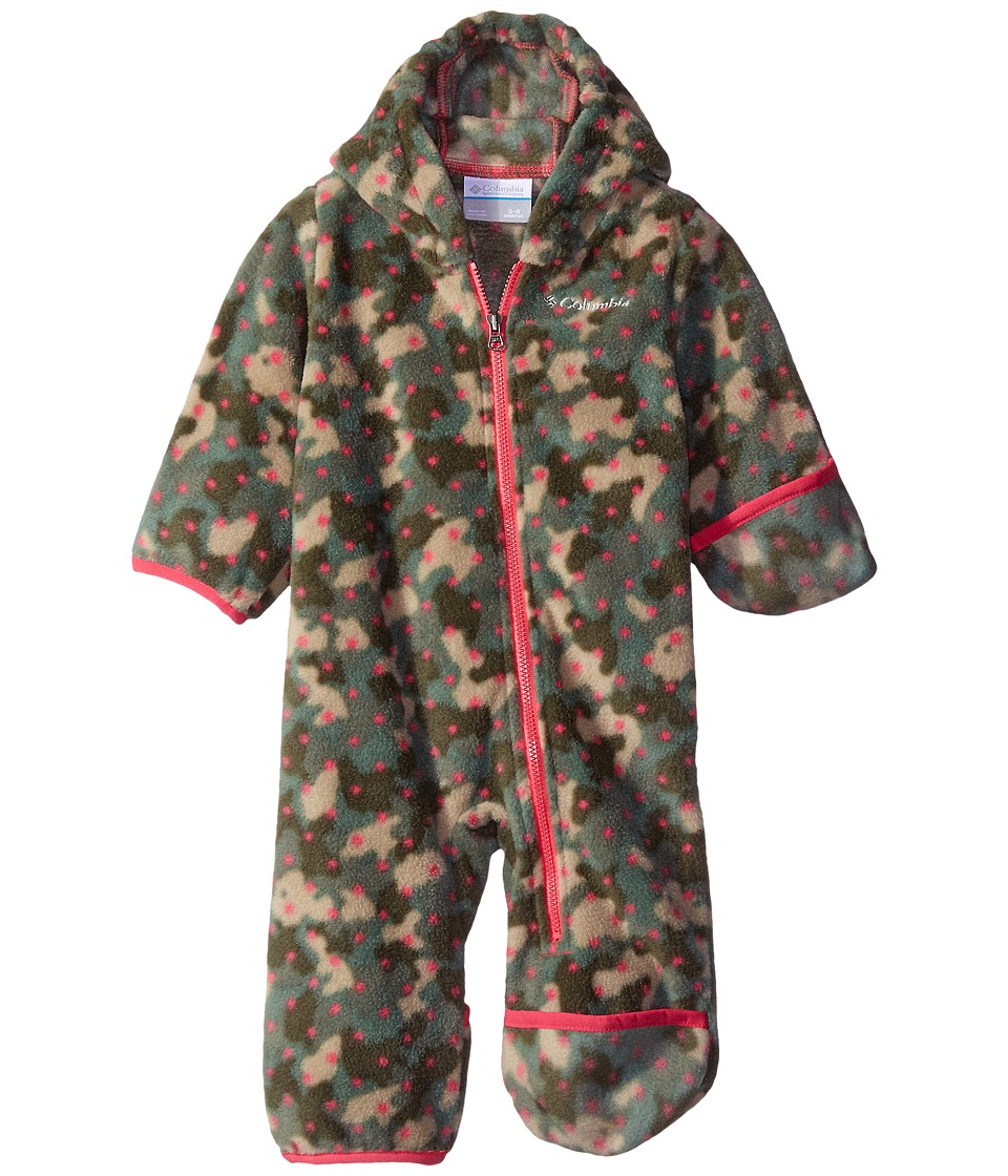 Columbia Kids - Snowtop II Bunting (Infant) (Punch Pink Camo Dots) Kid's Snow Bibs One Piece