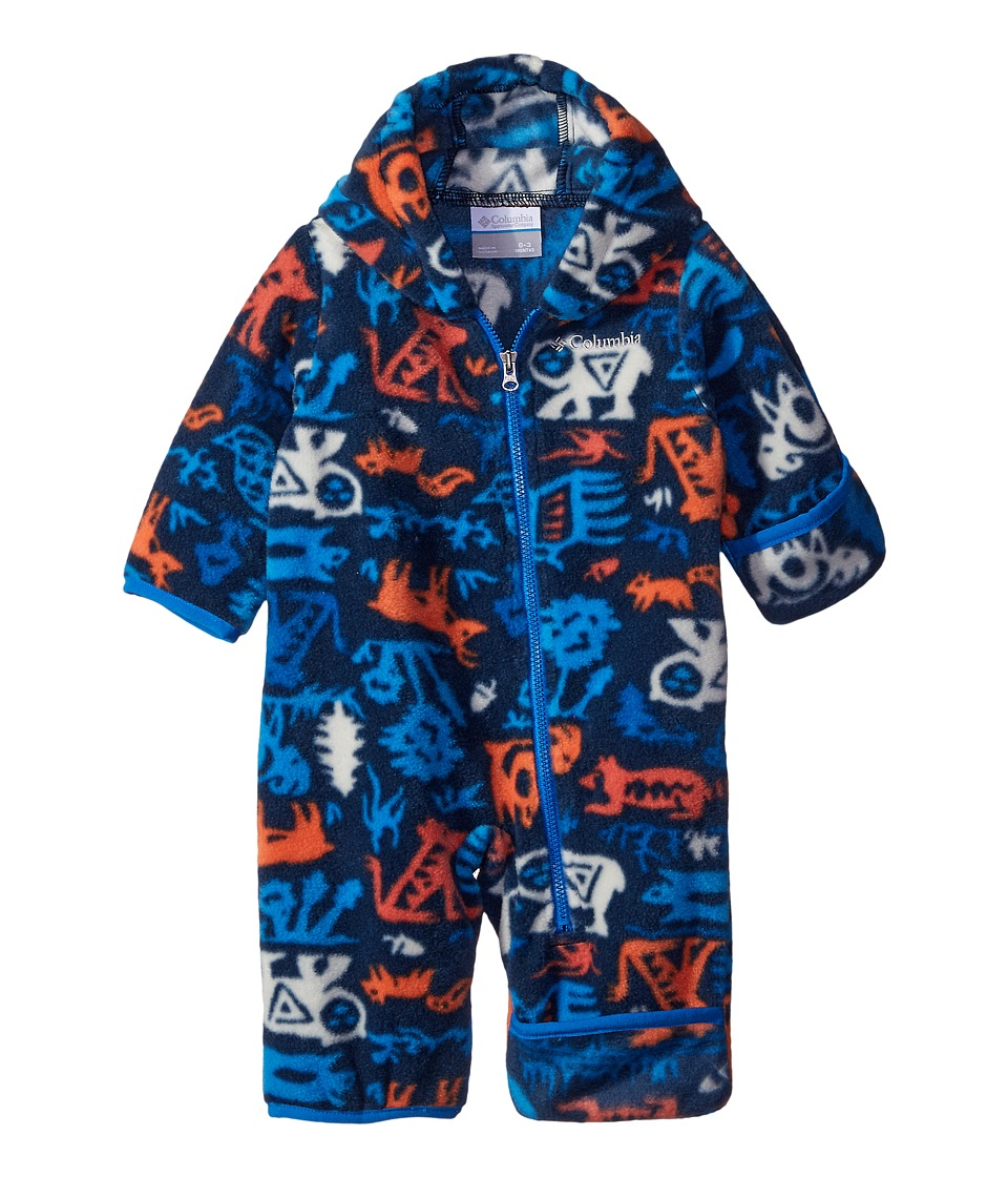 Columbia Kids - Snowtop II Bunting (Infant) (Collegiate Navy Critters) Kid's Snow Bibs One Piece