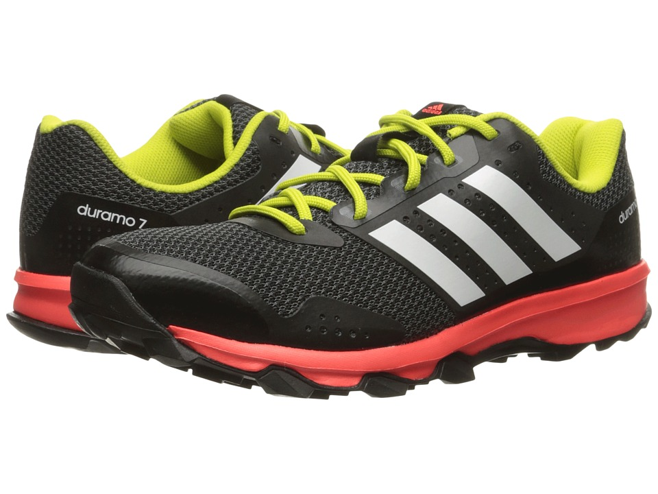 adidas Outdoor - Duramo 7 Trail (Black/White/Solar Red) Men's Running Shoes