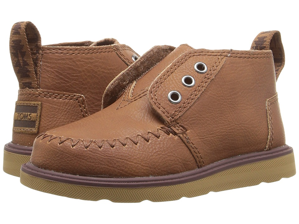 TOMS Kids Chukka Boot (Infant/Toddler/Little Kid) (Brown Synthetic Leather) Boys Shoes