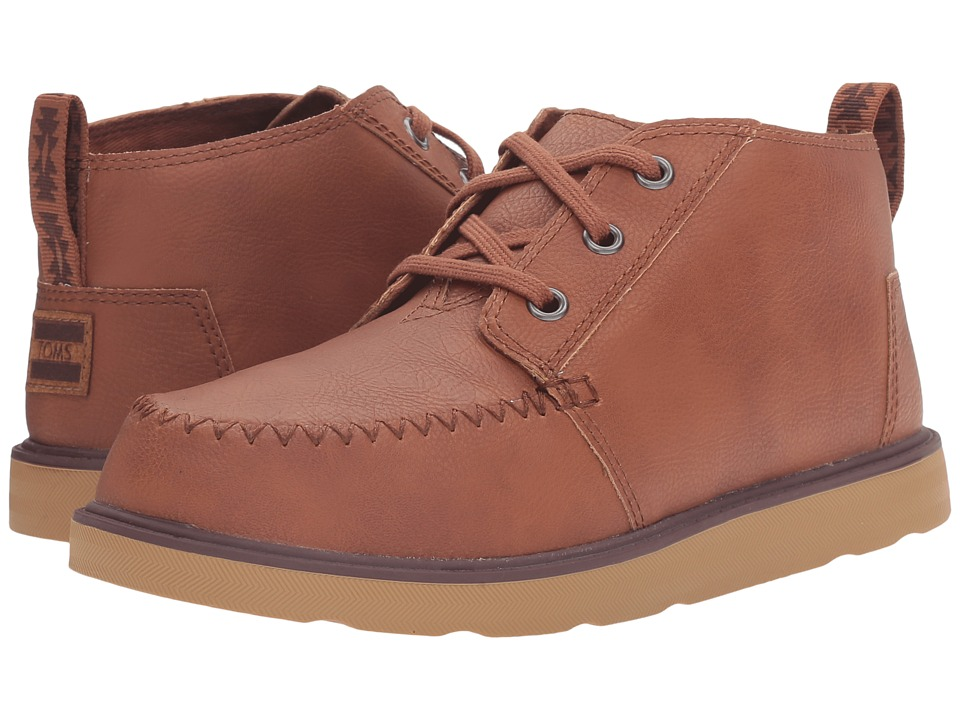 TOMS Kids Chukka Boot (Little Kid/Big Kid) (Brown Synthetic Leather) Boys Shoes