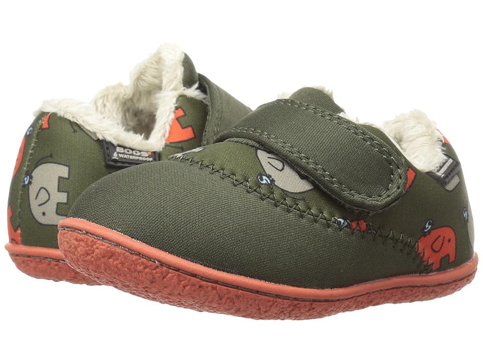 Bogs Kids - Baby Milo Elephant (Toddler) (Moss Multi) Boys Shoes