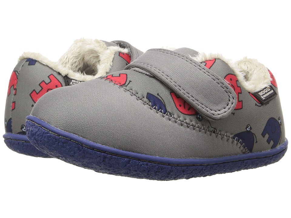 Bogs Kids - Baby Milo Elephant (Toddler) (Gray Multi) Boys Shoes