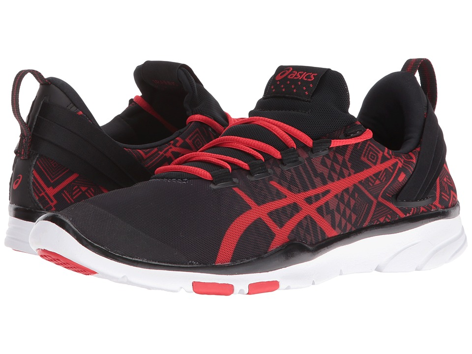 ASICS - Gel-Fit Sana 2 (Black/Vermilion/Black) Women's Cross Training Shoes