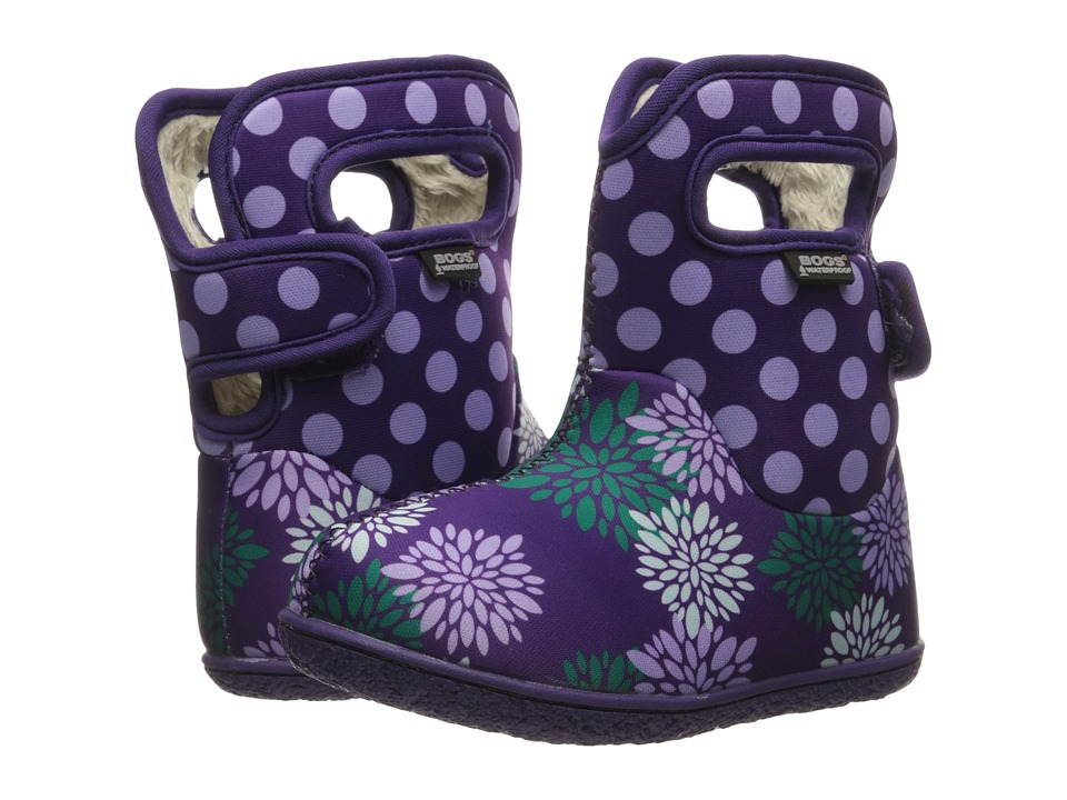 Bogs Kids - Baby Pompon Dots (Toddler) (Grape Multi) Girls Shoes