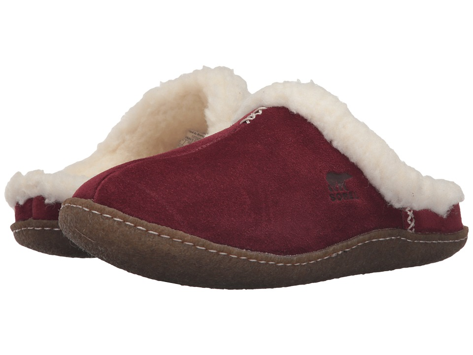 SOREL - Nakiska Slide (Garnet Red) Women's Slippers