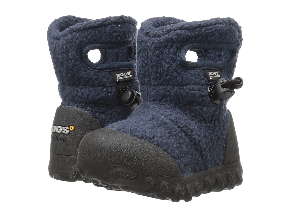 Bogs Kids - Baby B-Moc Fleece (Toddler) (Navy) Boys Shoes