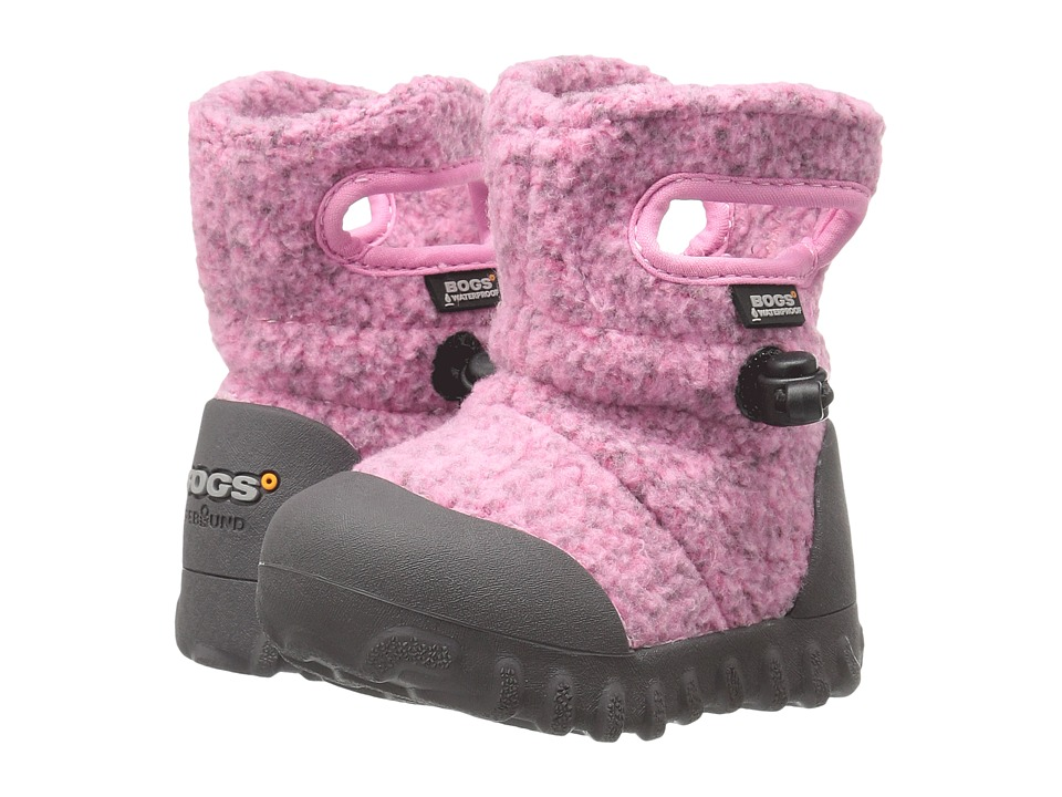 Bogs Kids - Baby B-Moc Fleece (Toddler) (Pink) Girls Shoes