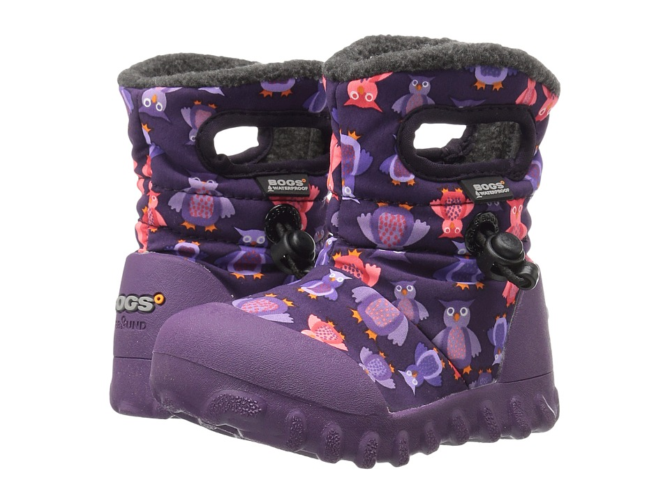 Bogs Kids - Baby B-Moc Puff Owls (Toddler) (Purple Multi) Girls Shoes