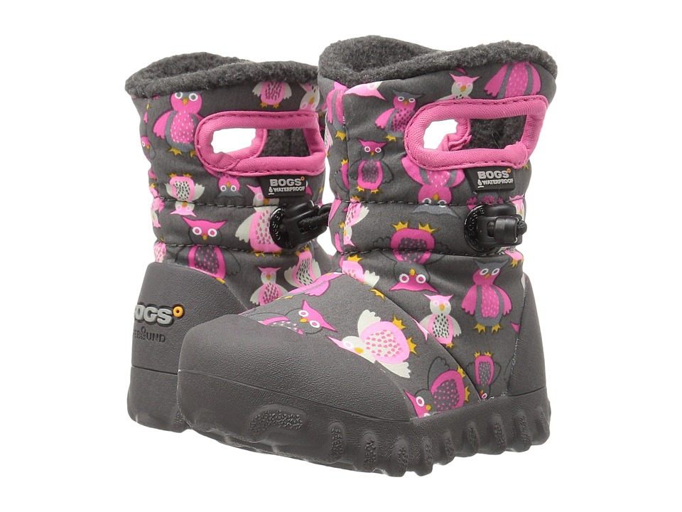 Bogs Kids - Baby B-Moc Puff Owls (Toddler) (Dark Gray Multi) Girls Shoes
