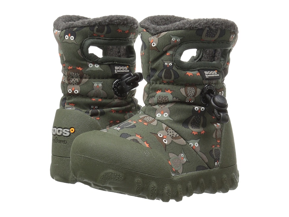 Bogs Kids - Baby B-Moc Puff Owls (Toddler) (Moss Multi) Boys Shoes