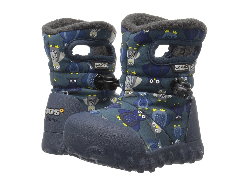Bogs Kids - Baby B-Moc Puff Owls (Toddler) (Navy Multi) Boys Shoes