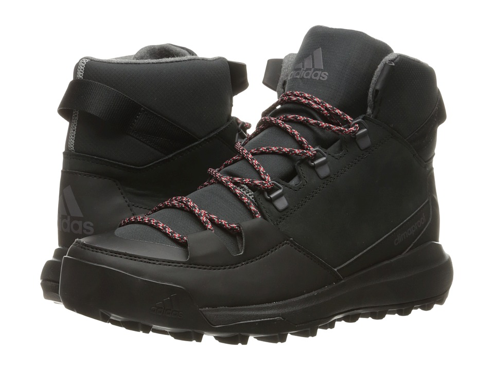 adidas Outdoor - CW Winterpitch Mid CP Leather (Black/Scarlet/Charcoal Solid Grey) Men's Hiking Boots