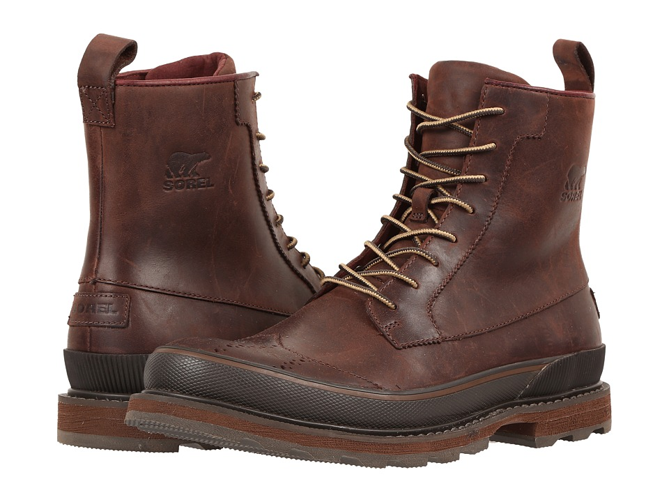 SOREL - Madson Wingtip Boot (Madder Brown) Men's Waterproof Boots
