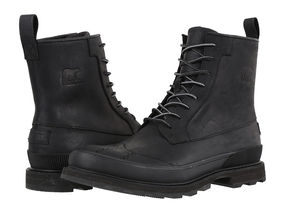 SOREL Madson Wingtip Boot (Black) Men