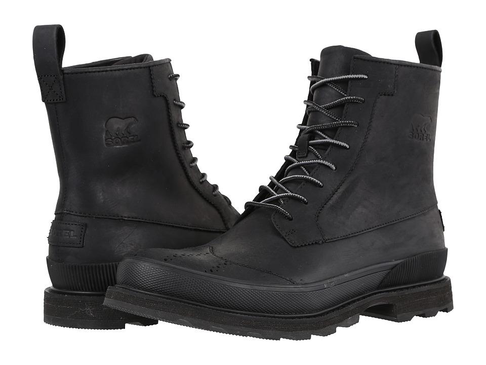 SOREL - Madson Wingtip Boot (Black) Men's Waterproof Boots
