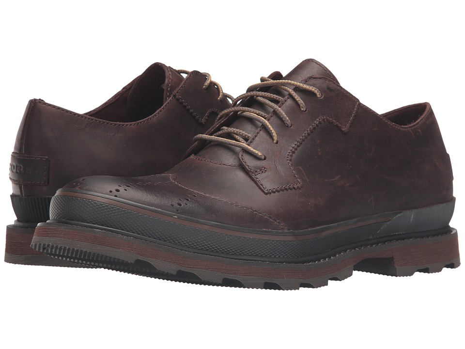 SOREL - Madson Wingtip Lace (Madder Brown) Men's Lace Up Wing Tip Shoes