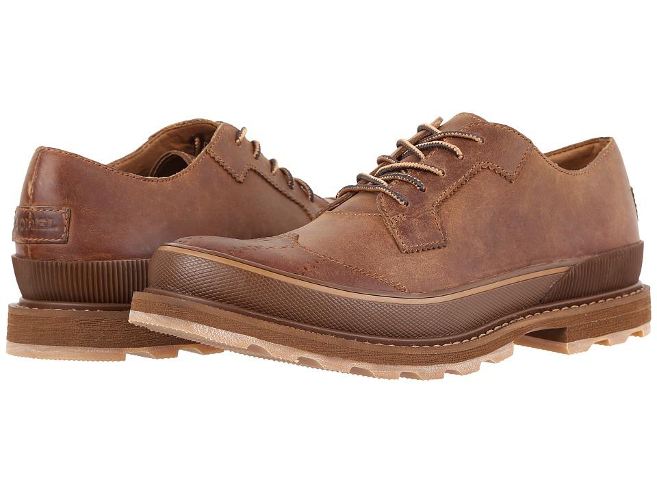 SOREL - Madson Wingtip Lace (Chipmunk) Men's Lace Up Wing Tip Shoes