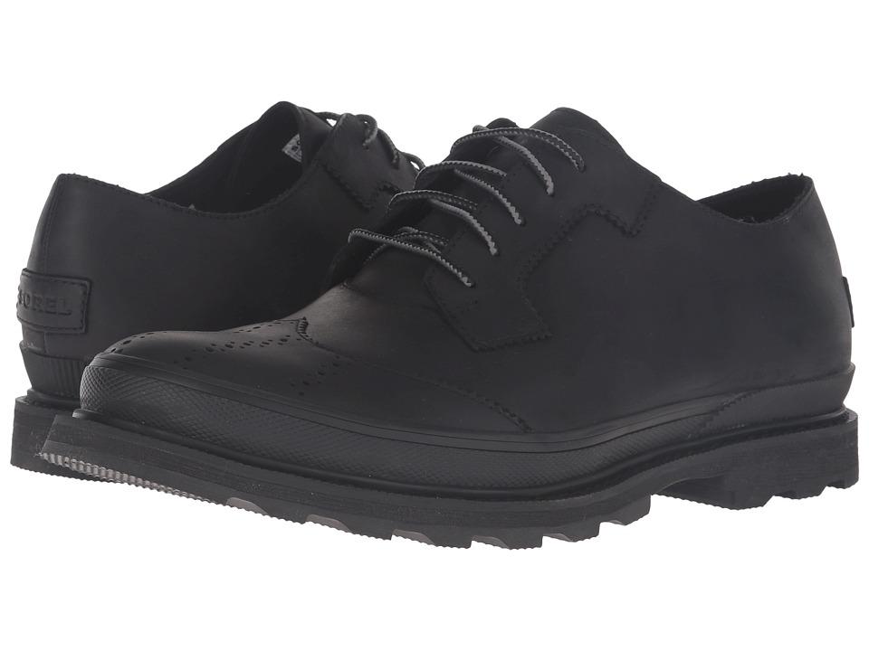 SOREL - Madson Wingtip Lace (Black) Men's Lace Up Wing Tip Shoes