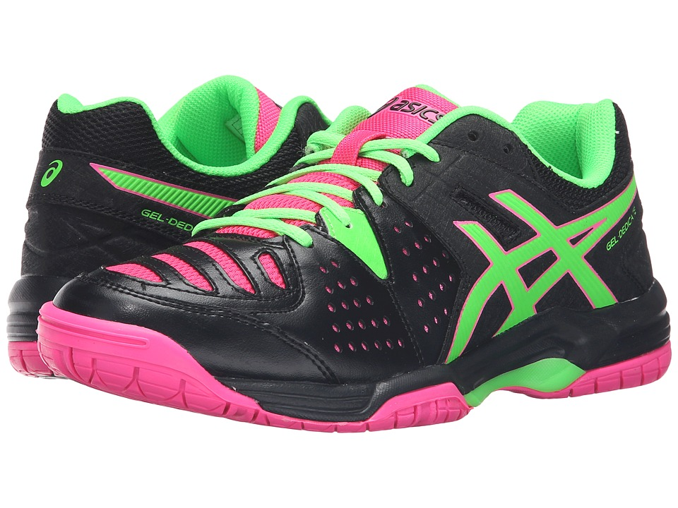 ASICS - Gel-Dedicate 4 (Black/Green Gecko/Hot Pink) Women's Shoes