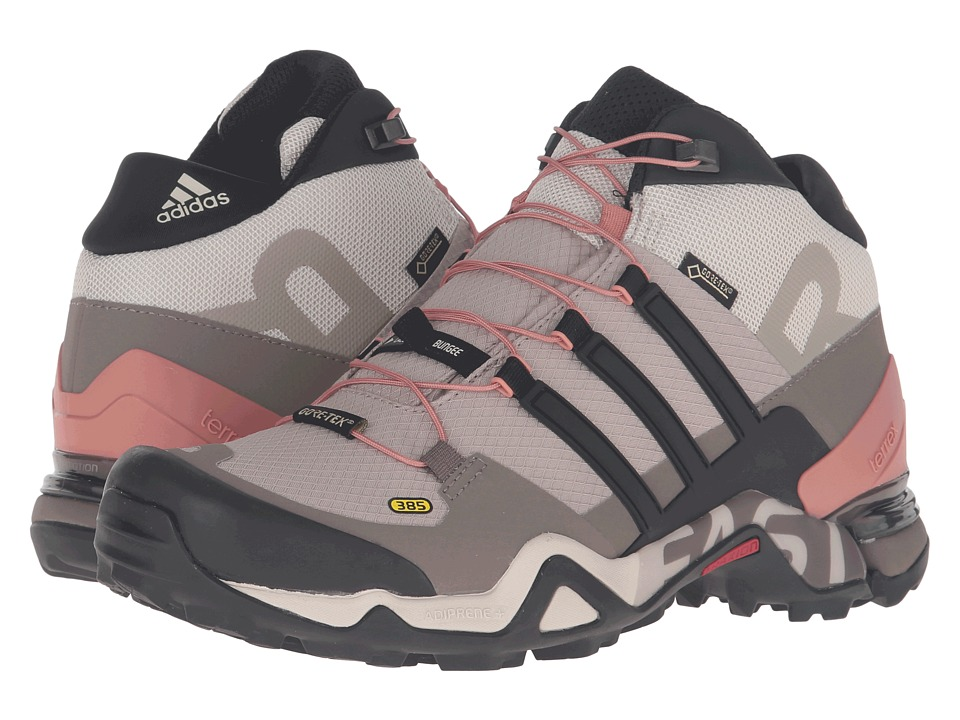 adidas Outdoor - Terrex Fast R Mid GTX (Vapour Grey/Black/Tech Earth) Women's Hiking Boots