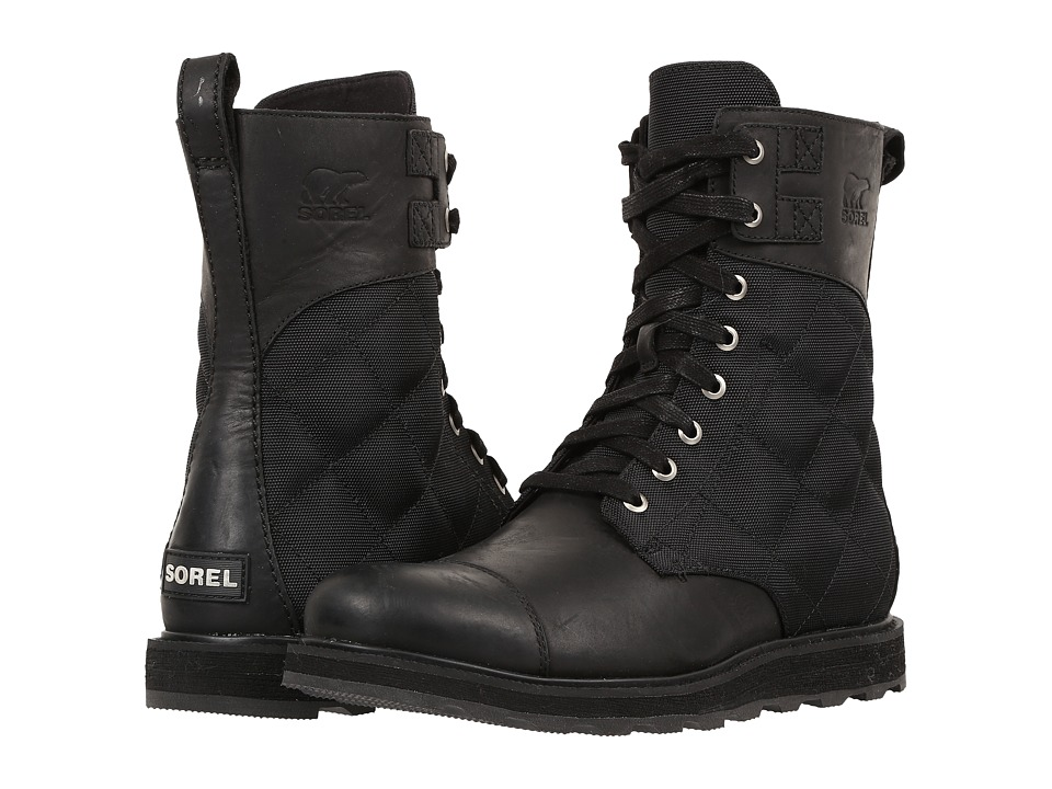 SOREL - Madson Tall Lace (Black) Men's Waterproof Boots