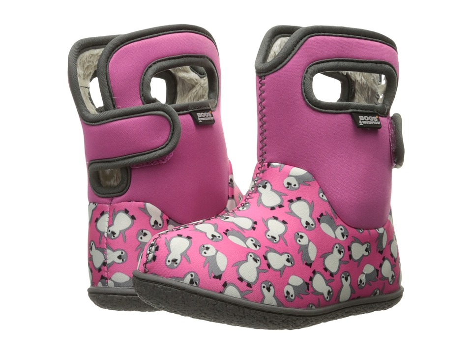 Bogs Kids - Baby Classic Penguins (Toddler) (Pink Multi) Girls Shoes