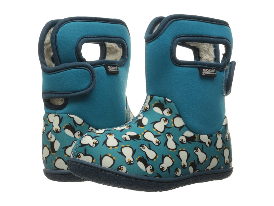 Bogs Kids - Baby Classic Penguins (Toddler) (Turquoise Multi) Girls Shoes