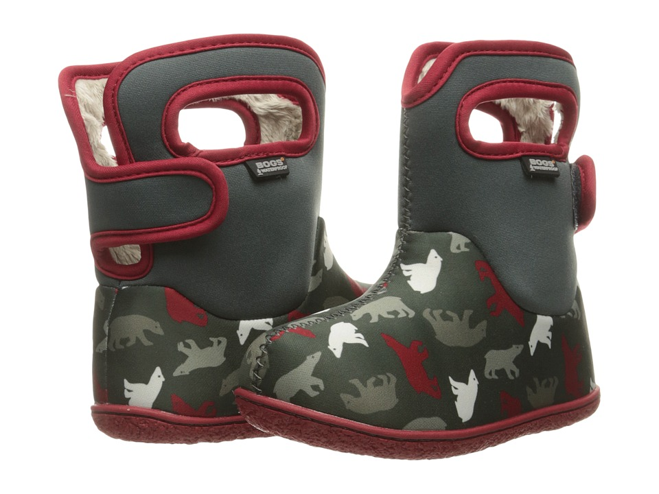 Bogs Kids - Baby Classic Polar Bears (Toddler) (Dark Gray Multi) Boys Shoes