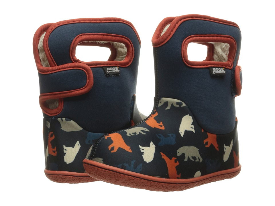 Bogs Kids - Baby Classic Polar Bears (Toddler) (Dark Blue Multi) Boys Shoes