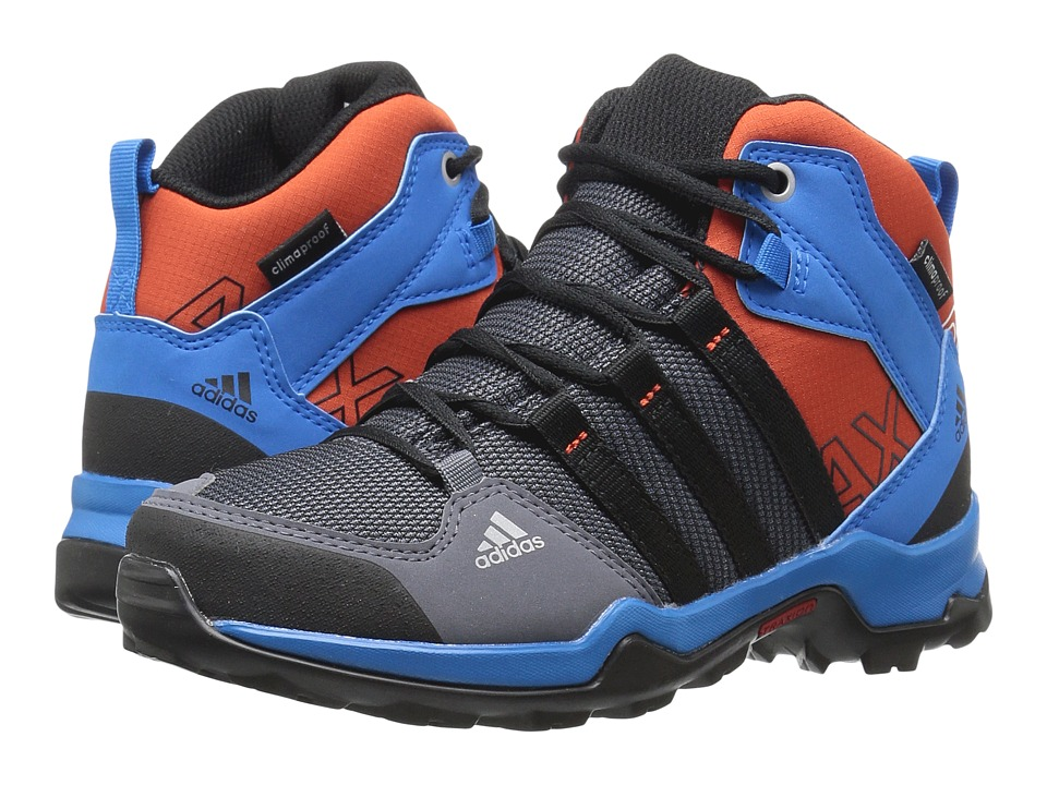 adidas Outdoor Kids - AX2 Mid CP (Little Kid/Big Kid) (Onix/Black/Shock Blue) Boys Shoes
