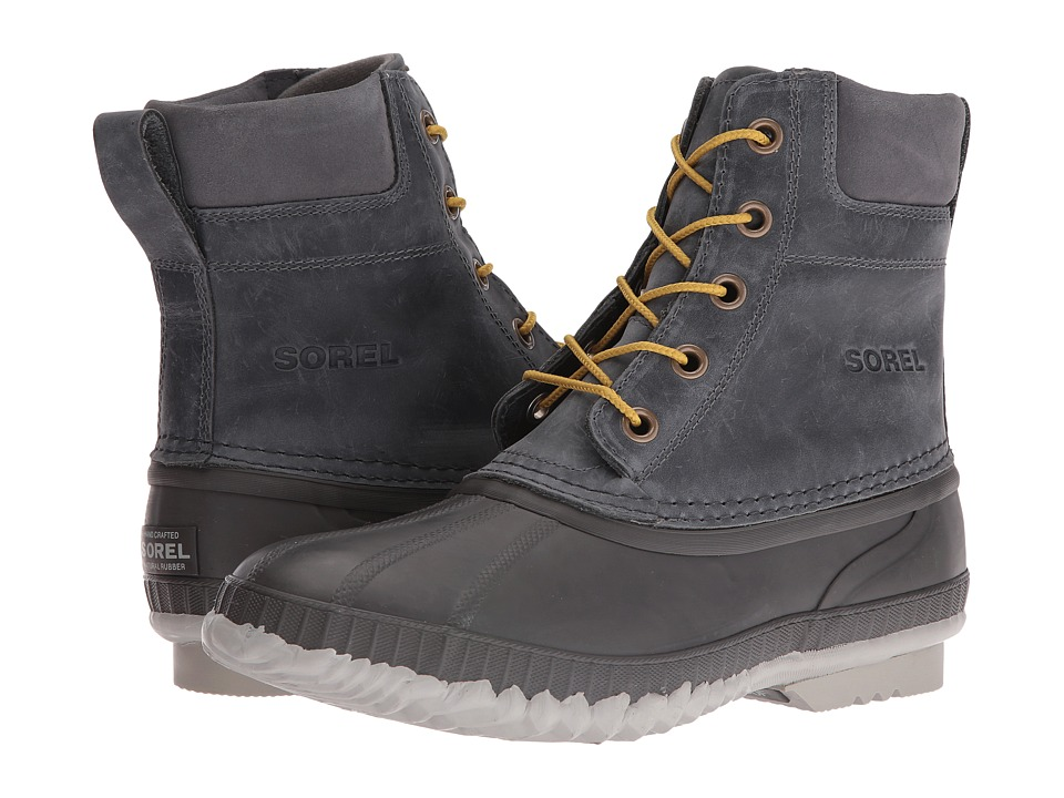 SOREL - Cheyanne Lace Full Grain (City Grey/Shark) Men's Cold Weather Boots