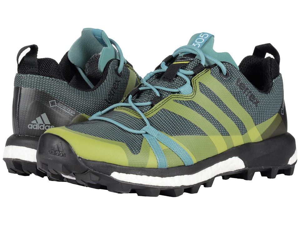 adidas Outdoor Terrex Agravic GTX (Vapour Steel/Shock Slime/Black) Women