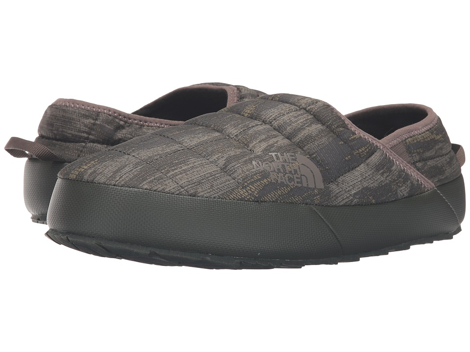The North Face - ThermoBall Traction Mule II (Rosin Green Glamo Print/Caper Berry Green (Prior Season)) Men's Slippers
